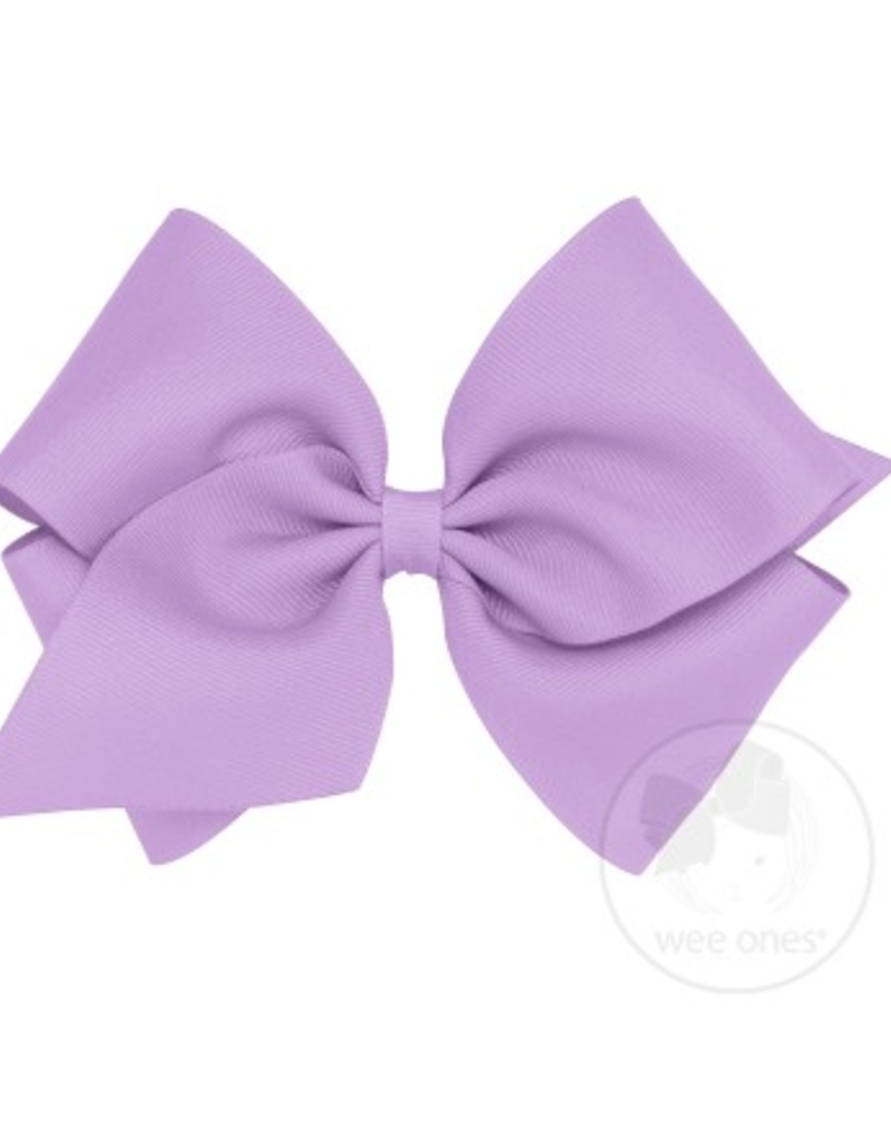 Wee Ones Mini King Grosgrain Bow Light Orchid