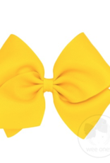 Wee Ones Mini King Grosgrain Bow Yellow