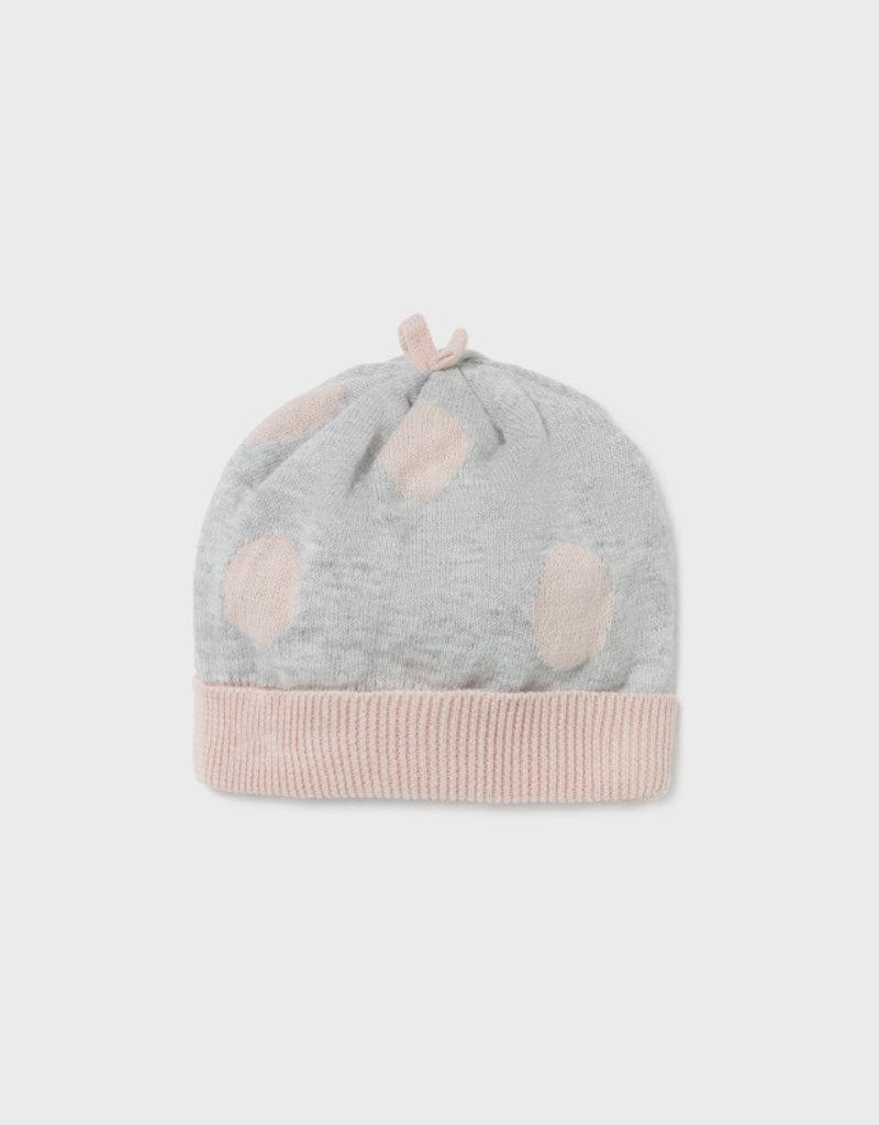 Mayoral Dusty Pink Knit Leg Warmer Set w/Hat