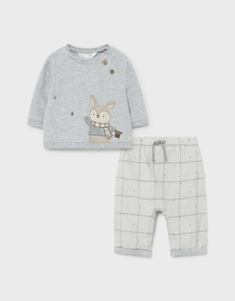 Mayoral Sweater w/Fox and Pants Set