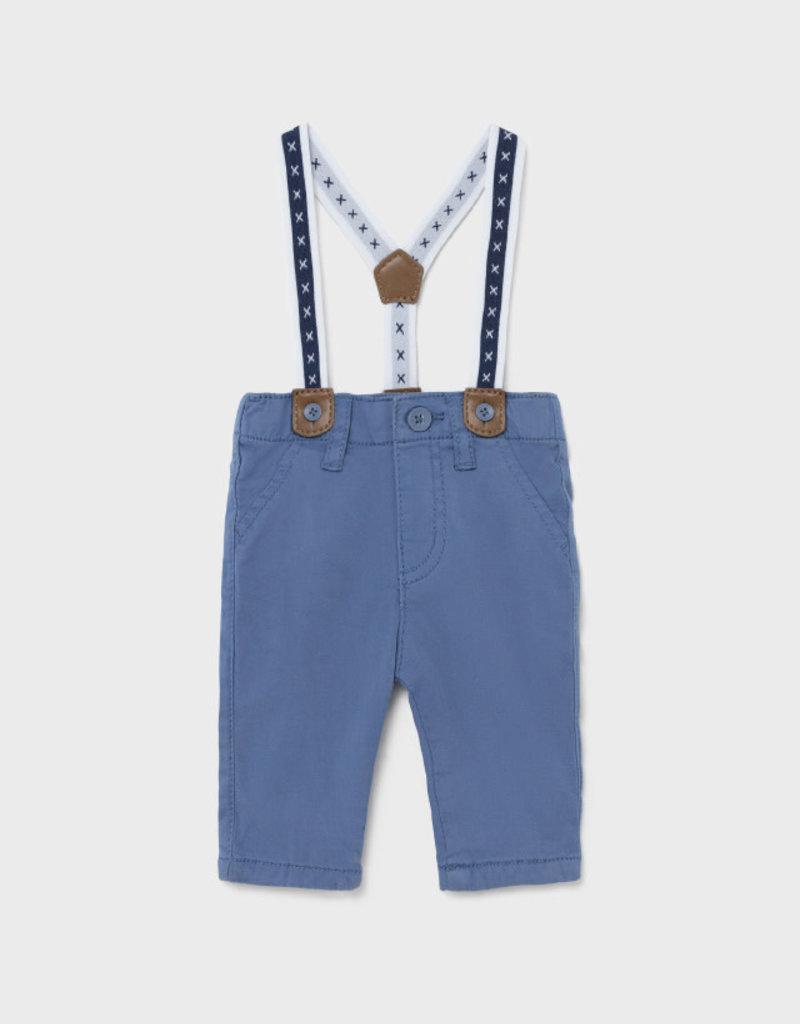 Mayoral Pants w/Suspenders Smokey Blue
