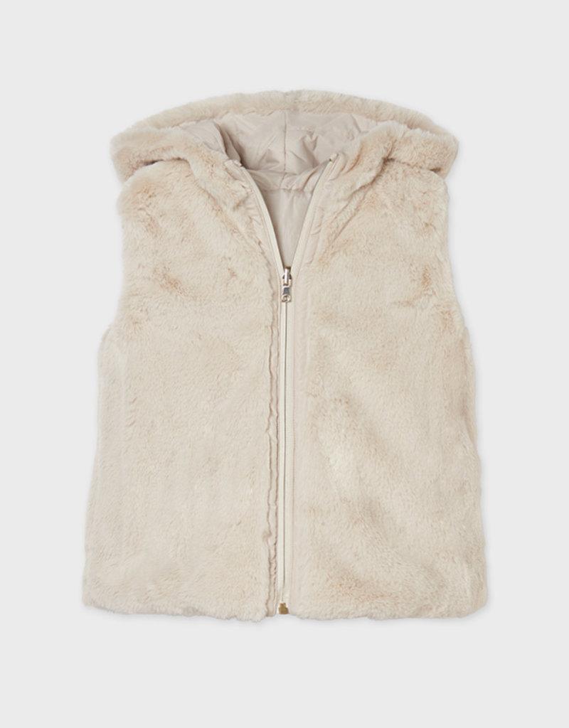 Mayoral Beige Reversible Vest