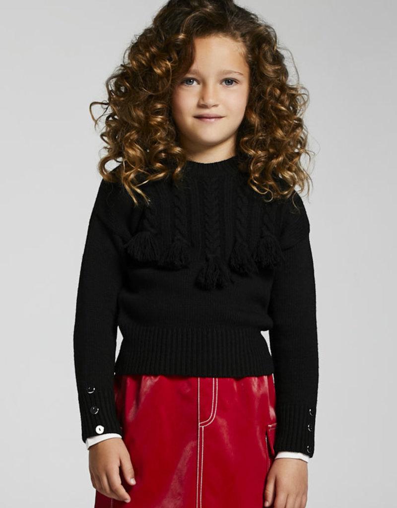 Mayoral Black Braided Sweater
