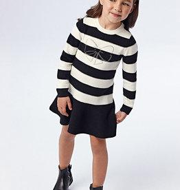 Mayoral Black Stripes Dress