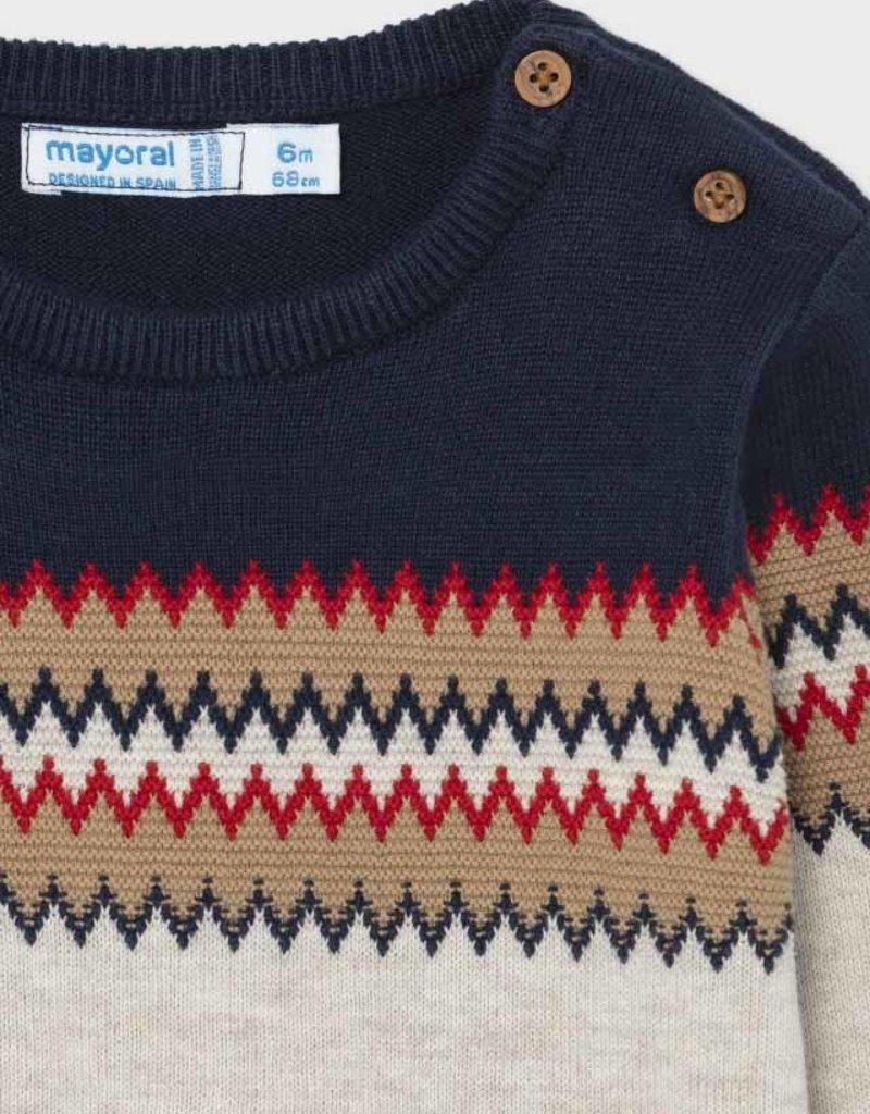 Mayoral Blue jacquard Sweater