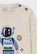 Mayoral Blue Astronaut Sweater Pant Set