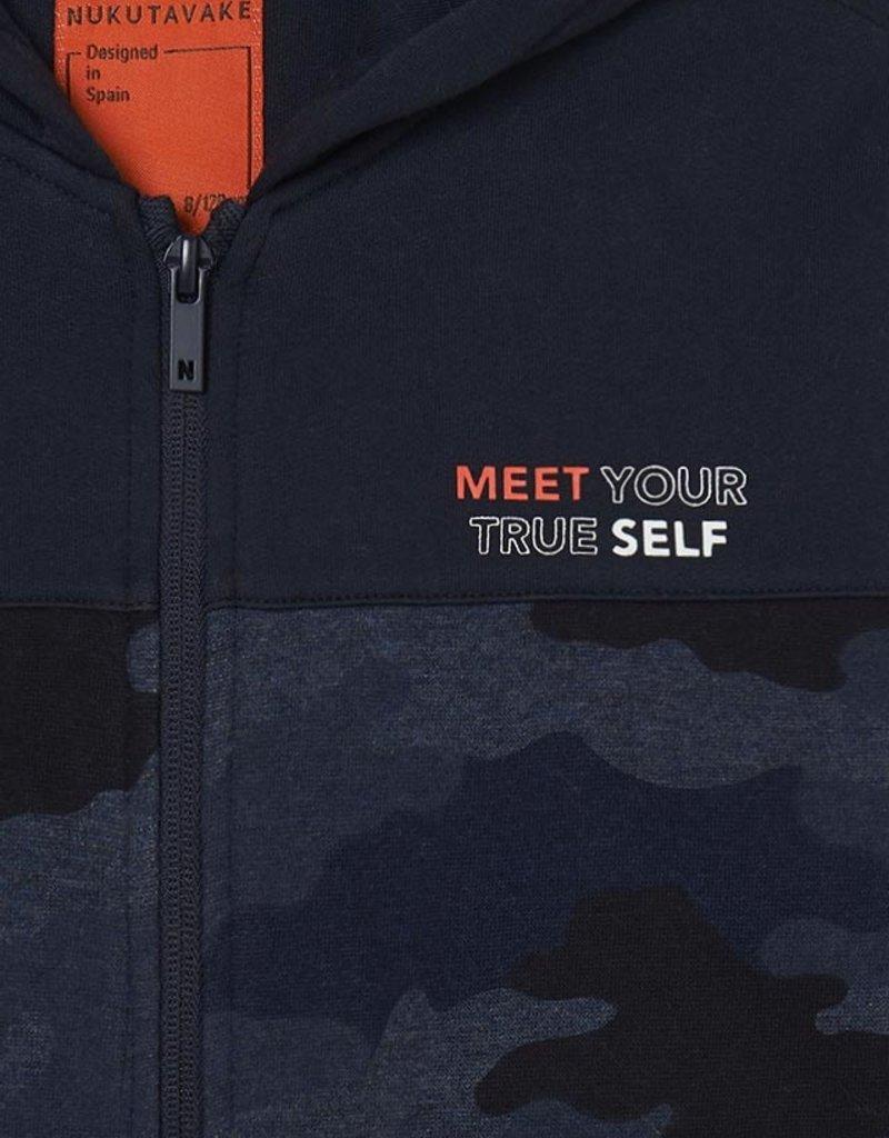Mayoral Camo Fleece Zip Up Sweatshirt