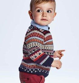 Mayoral Bordeaux Jacquard Sweater