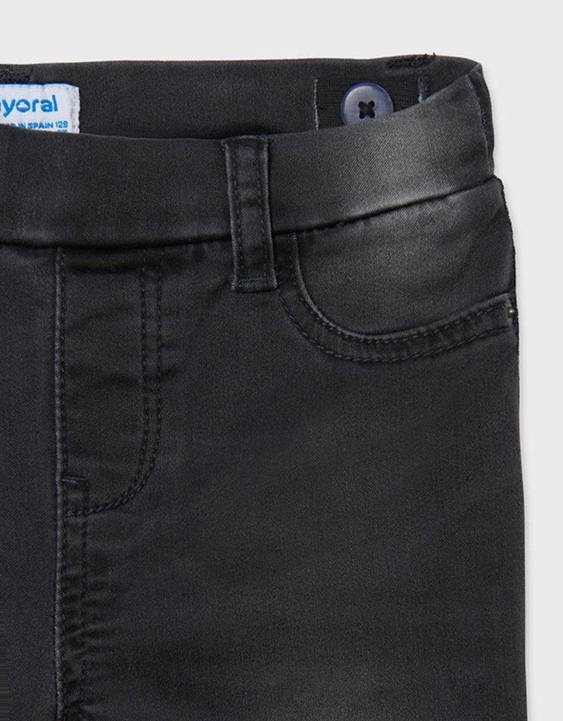 Mayoral Girls Gray Denim Pants