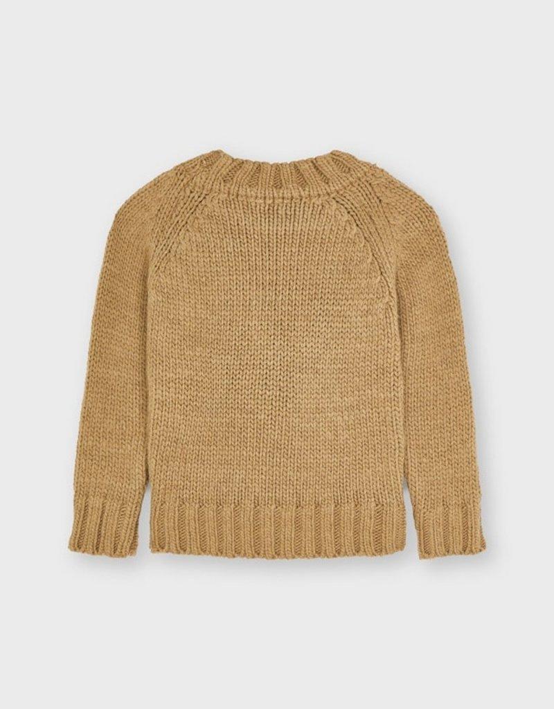 Mayoral Hazelnut Braided Sweater