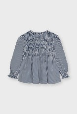 Mayoral Honeycomb Striped Blouse Ink