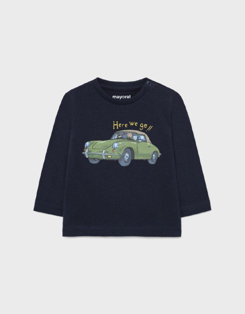 Mayoral L/S Blue Cars Shirt