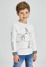 Mayoral L/S Skateboard Cream T Shirt