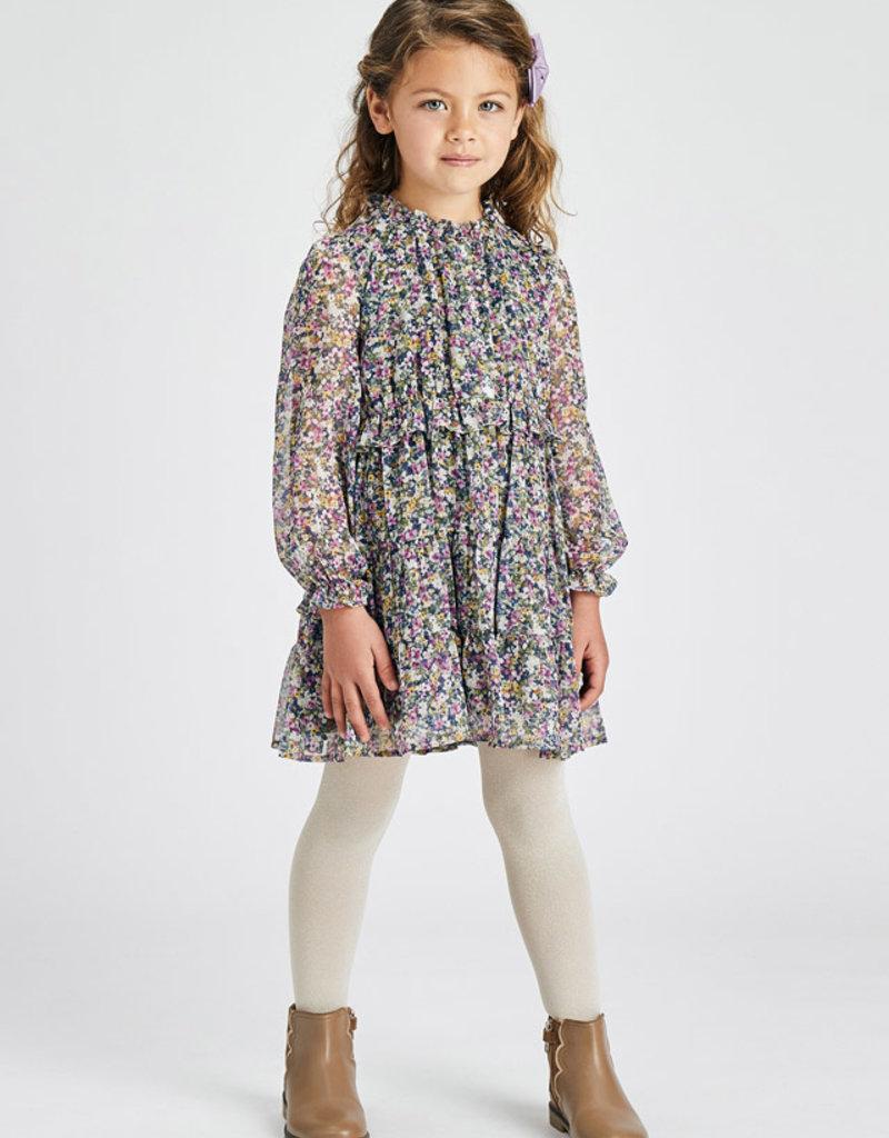 Mayoral Lilac Printed Dress