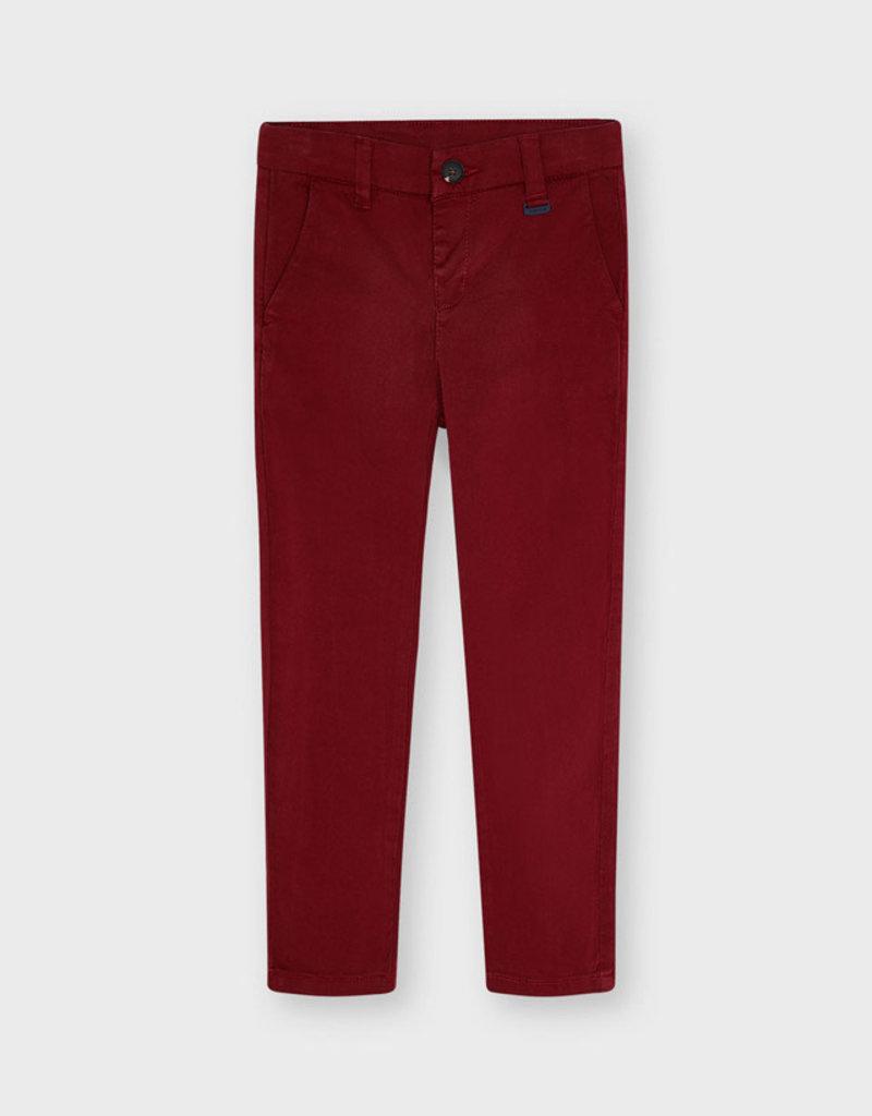 Mayoral Maroon Basic Pants