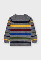 Mayoral Metal Grey Stripe Sweater