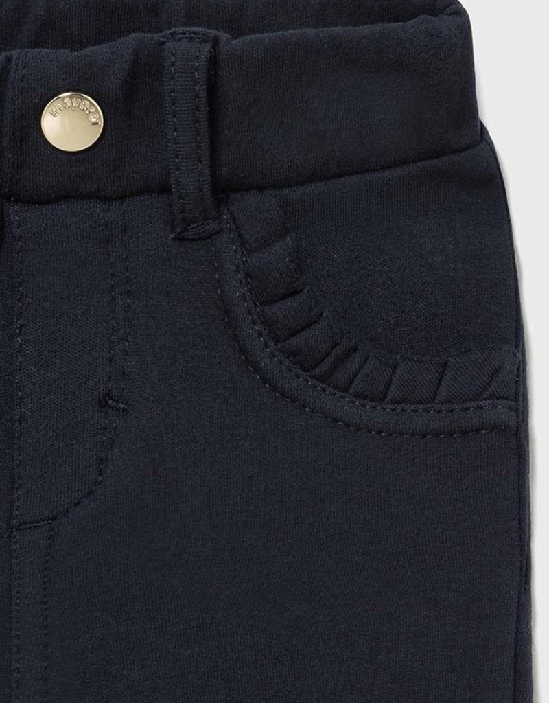 Mayoral Girls Navy Fleece Basic Pants
