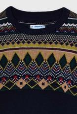 Mayoral Navy Jacquard Sweater