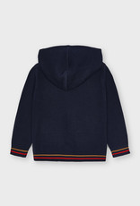 Mayoral Navy Knit Zip Hooded Sweater