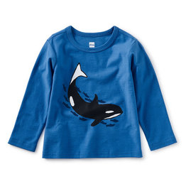 Tea Collection Baby Orca Graphic Tee Imperial