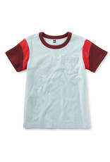 Tea Collection Colorblocked S/S Tee Blue Glow