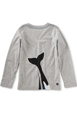 Tea Collection Orca Waves Graphic Tee Md Heather