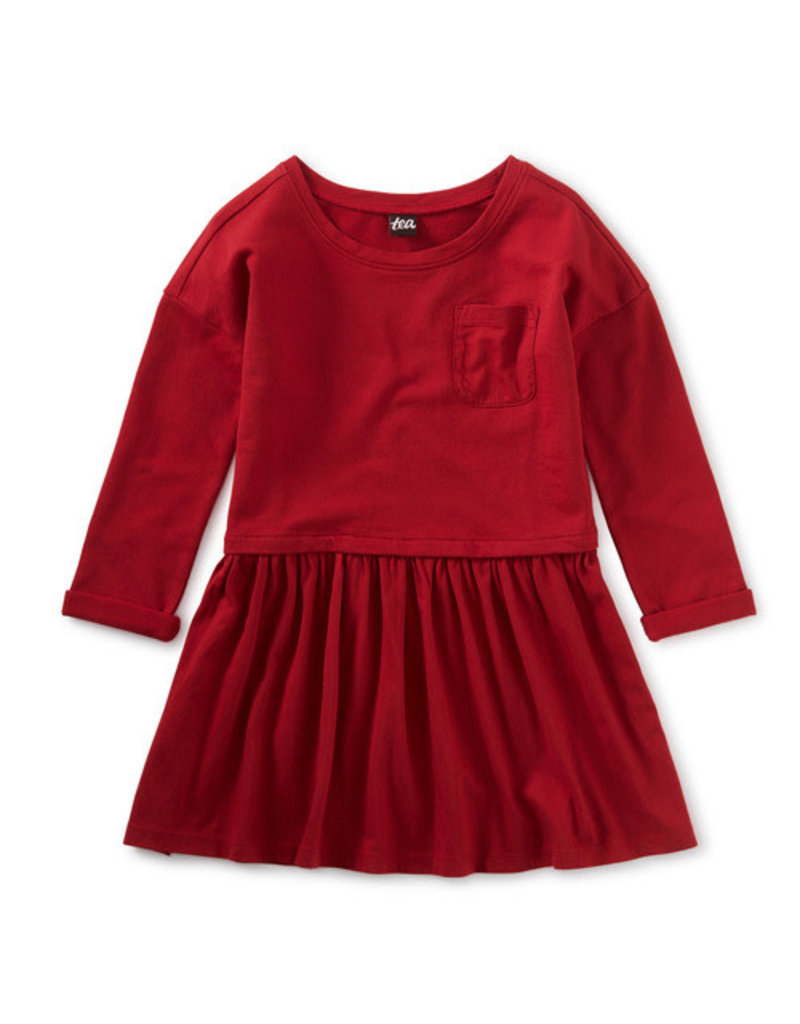 Tea Collection Pocket Play Dress Red Wagon