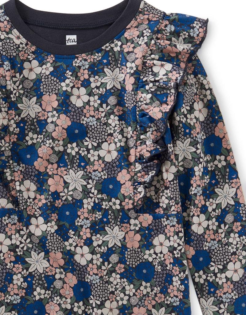 Tea Collection Ruffle Dress Swedish Bouquet
