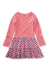 Tea Collection Tiered Skirted Dress Blush Blooms