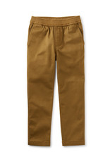 Tea Collection Timeless Stretch Twill Pants Raw Umber