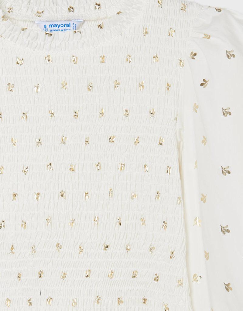 Mayoral Printed Honeycomb Blouse