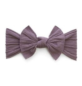 Baby Bling Bow Cable Knit Knot Bow Lilac