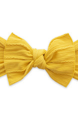 Baby Bling Bow Cable Knit Knot Bow Mustard