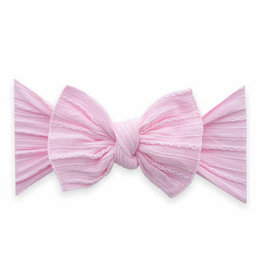 Baby Bling Bow Cable Knit Knot Bow Pink