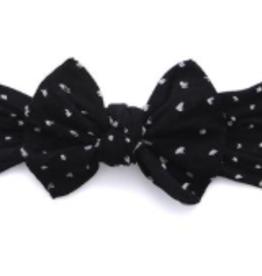 Baby Bling Bow Patterned Shabby Knot Black Dot