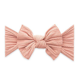 Baby Bling Bow Cable Knit Knot Bow Rose Gold