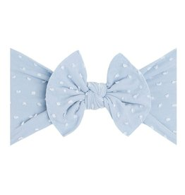 Baby Bling Bow Patterned Shabby Knot Dusty Blue Dot