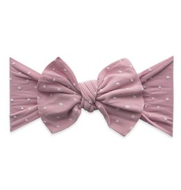 Baby Bling Bow Patterned Shabby Knot Mauve Dot