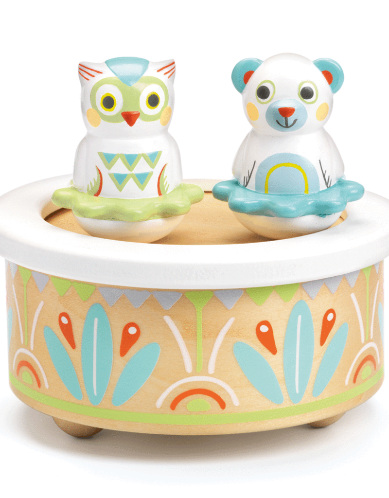 Djeco Bear & Owl Baby Music Box