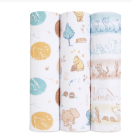 Winnie in the Woods Swaddles 3 Pack