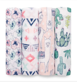 Classic Swaddle 4 pack Trail Blooms