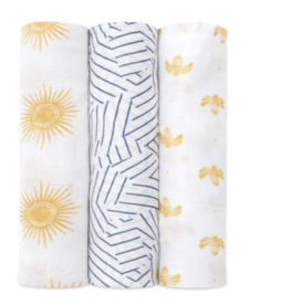 Silky Soft Swaddle 3 Pack Golden Sun