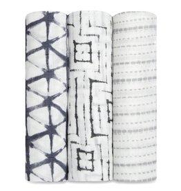 Silky Soft Swaddles 3 Pack Pebble Shibori