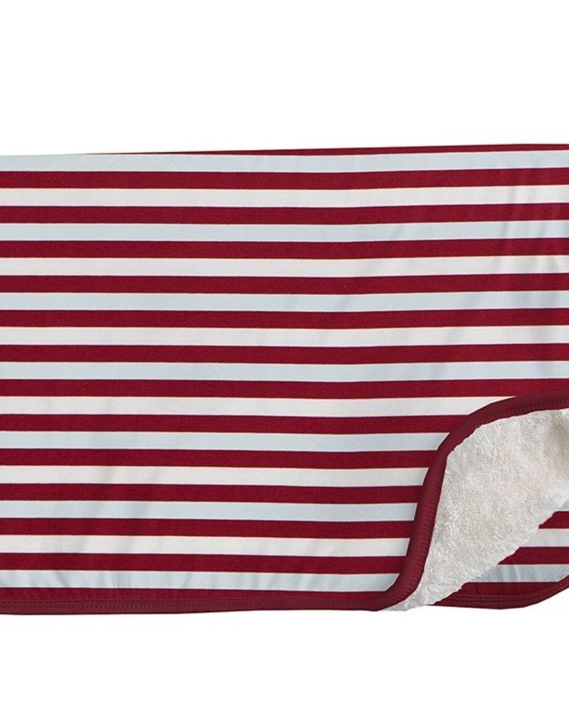 Kickee Pants Print Sherpa Lined Stroller Blanket Playground Stripe