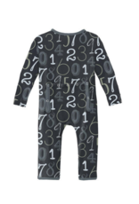 Kickee Pants Print Coverall w/Zip Deep Space Math