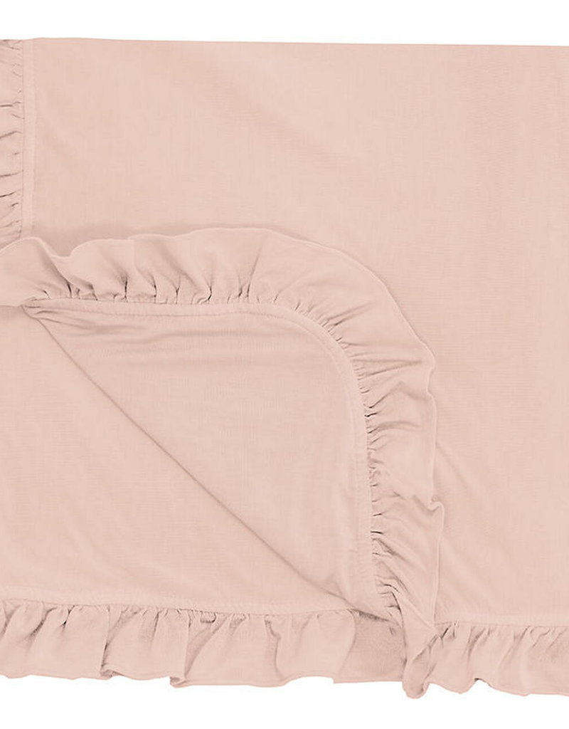Kickee Pants Solid Ruffle Toddler Blanket Peach Blossom
