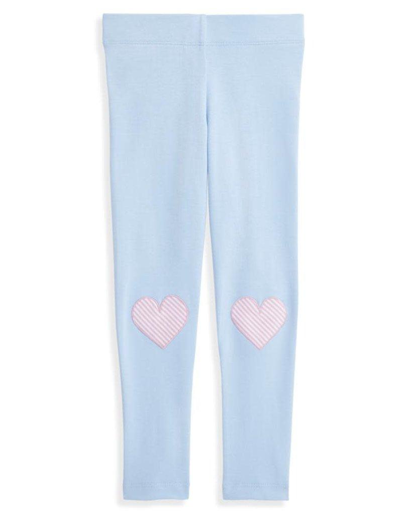 bella bliss Applique Heart Leggings Lt Blue