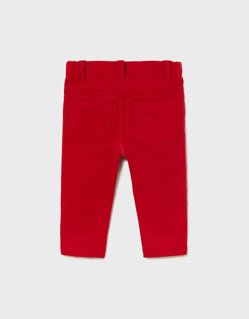 Mayoral Red Fleece Lined Pants
