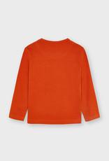 Mayoral Orange L/S Print T Shirt