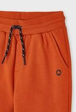 Mayoral Orange Cuffed Fleece Pants